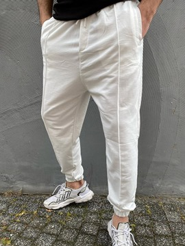 Ericdress Plain Lace-Up Mid Waist Casual Casual Pants