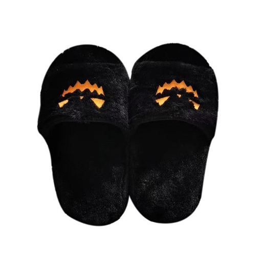 Ericdress Halloween Embroidery Flat With Flip Flop Compound Slippers