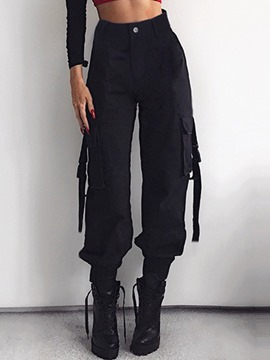Ericdress Loose Pocket Plain Overall Ankle Length Casual Pants
