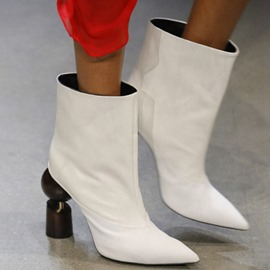 Ericdress Pointed Toe Slip-On Plain Banquet Boots