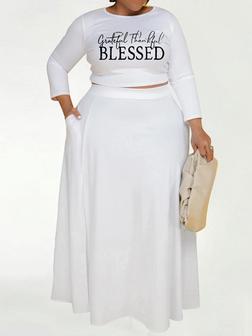 Ericdress Western T-Shirt Pocket Pullover Round Neck Two Piece Sets