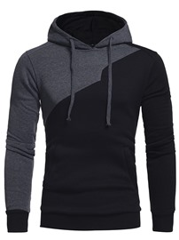 Ericdress Thick Color Block Pullover Sports Hooded Hoodies