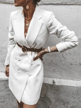 Ericdress Long Sleeve Notched Lapel Above Knee Fashion Summer Dress