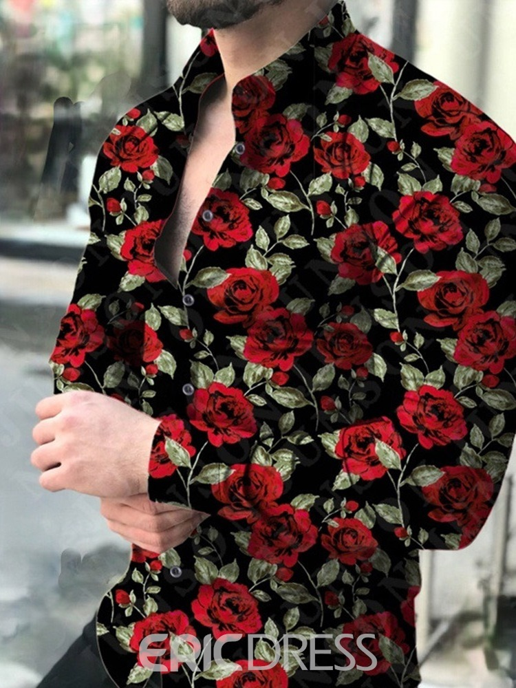 Ericdress Floral Fashion Button Summer Single-Breasted Shirt