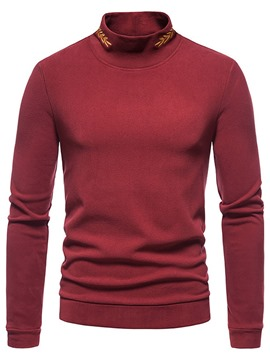 Ericdress Embroidery Casual Long Sleeve Pullover T-shirt