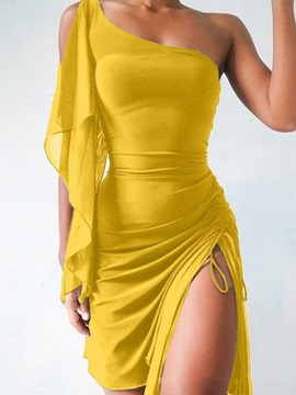 Ericdress Above Knee Sleeveless Lace-Up Pullover Bodycon Dress
