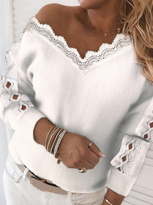 Ericdress Pleated Long Sleeve Loose Sweater