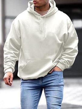 Ericdress Plain Pocket Pullover Hooded Casual Hoodies