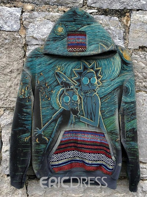 Ericdress Print Pullover Pullover Loose Casual Hoodies