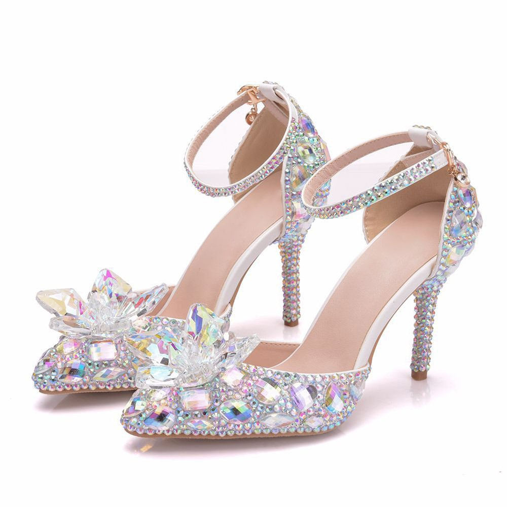 Ericdress Rhinestone Buckle Pointed Toe Plain Thin Shoes