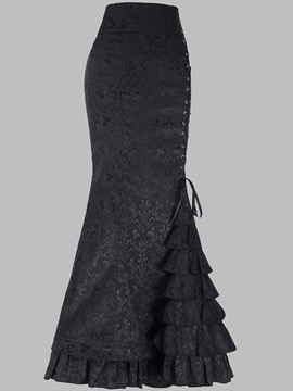 Ericdress Halloween Ankle-Length Mermaid Lace-Up Fashion Skirt