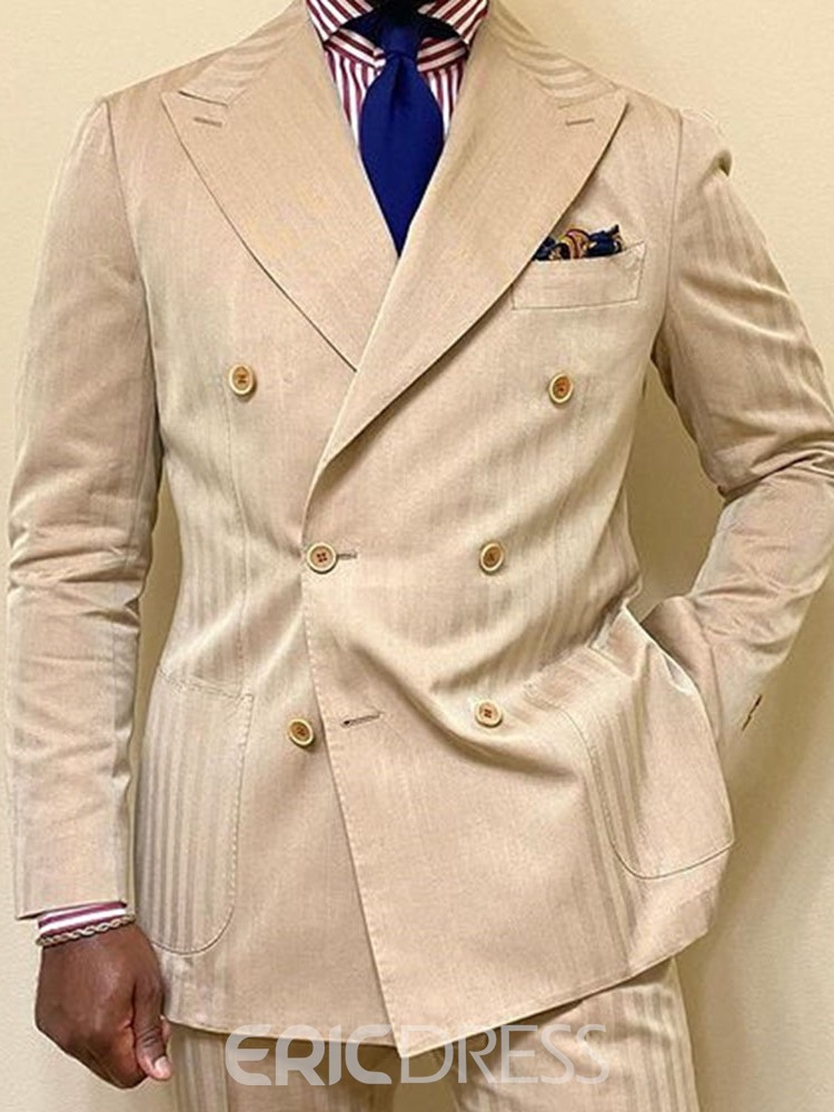 Ericdress Notched Lapel Slim Double-Breasted Blazer