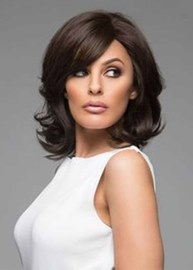 Ericdress Medium Hairstyles Natural Looking Women's Sexy Wavy Synthetic Hair Capless Wigs 14Inch