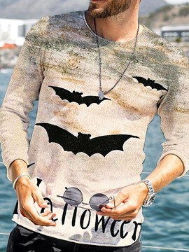 Ericdress Print Casual Round Neck Pullover Nine Points Sleeve T-shirt
