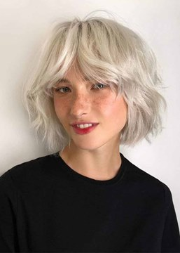 Ericdress Women's Short Layered Hairstyles Blonde Color Wavy Synthetic Hair Capless Wigs 12Inch
