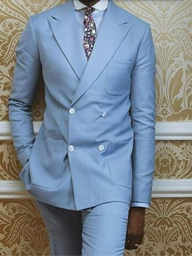 Ericdress Plain Pocket Double-Breasted Dress Suit