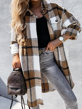 Ericdress Button Lapel Single-Breasted Winter Loose Trench Coat