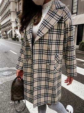 Ericdress Double-Breasted Regular Straight Winter Mid-Length Overcoat