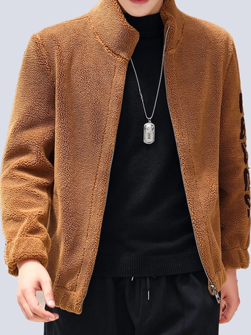 Ericdress Letter Stand Collar Loose Winter Jacket