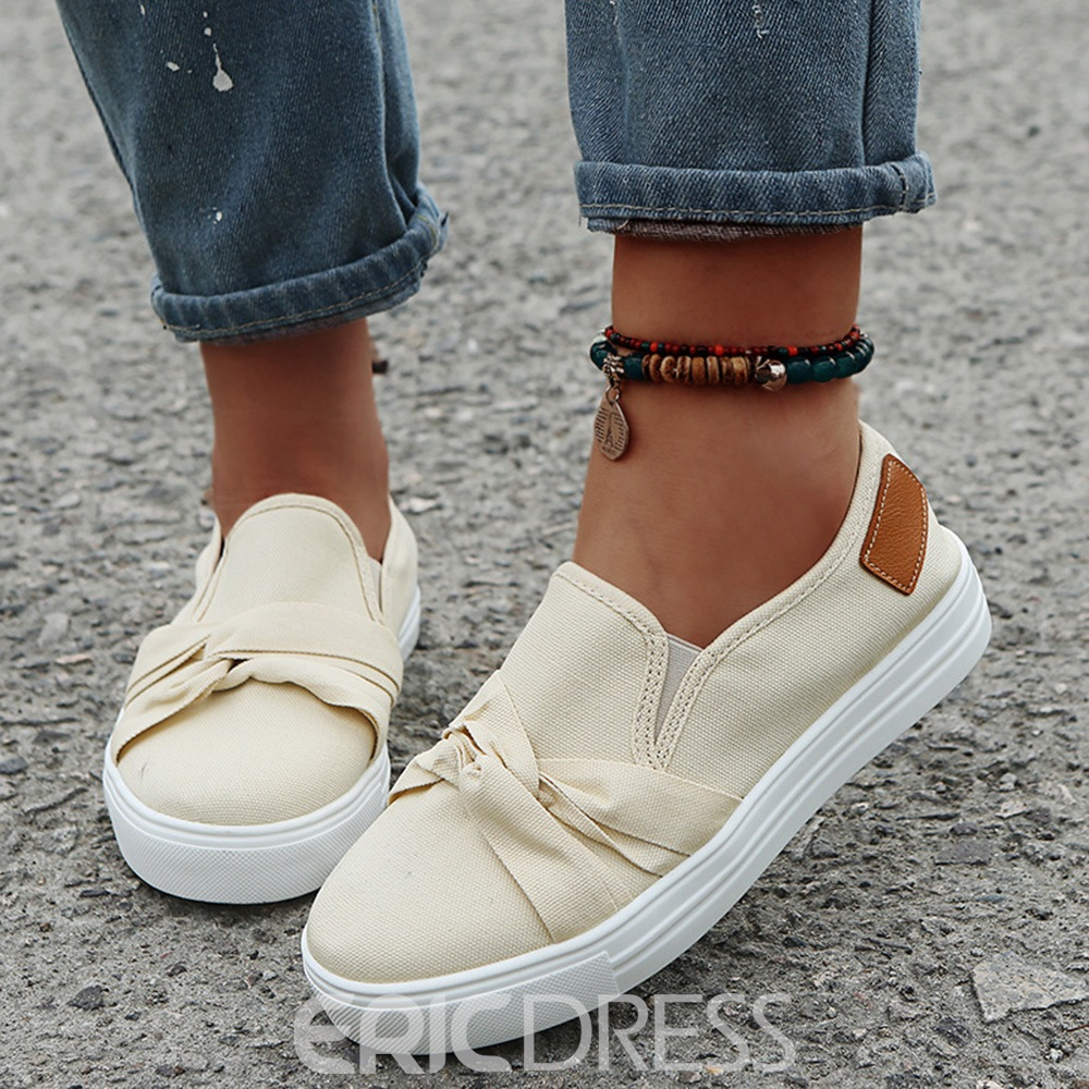 Ericdress Thread Round Toe Flat With Plain Thin Shoes