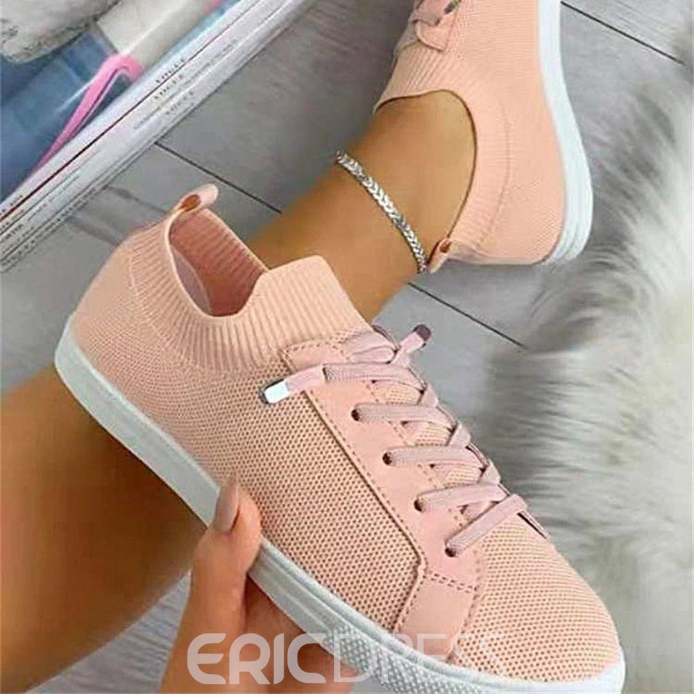 Ericdress Lace-Up Flat With Round Toe Casual Thin Shoes