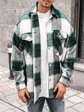 Ericdress Lapel Plaid England Loose Single-Breasted Shirt