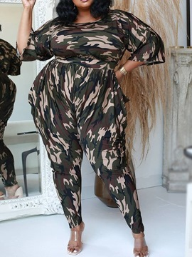 Ericdress Pants Camouflage Western Pencil Pants Pullover Two Piece Sets