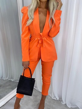 Ericdress Pants Formal Lace-Up Long Sleeve Ankle Length Suit