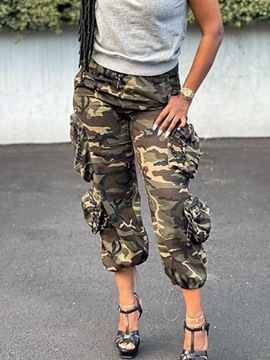 Ericdress Loose Camouflage Pocket Mid-Calf Casual Pants