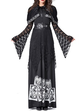 Ericdress Lace Long Sleeve Color Block Classic Halloween Summer Costumes