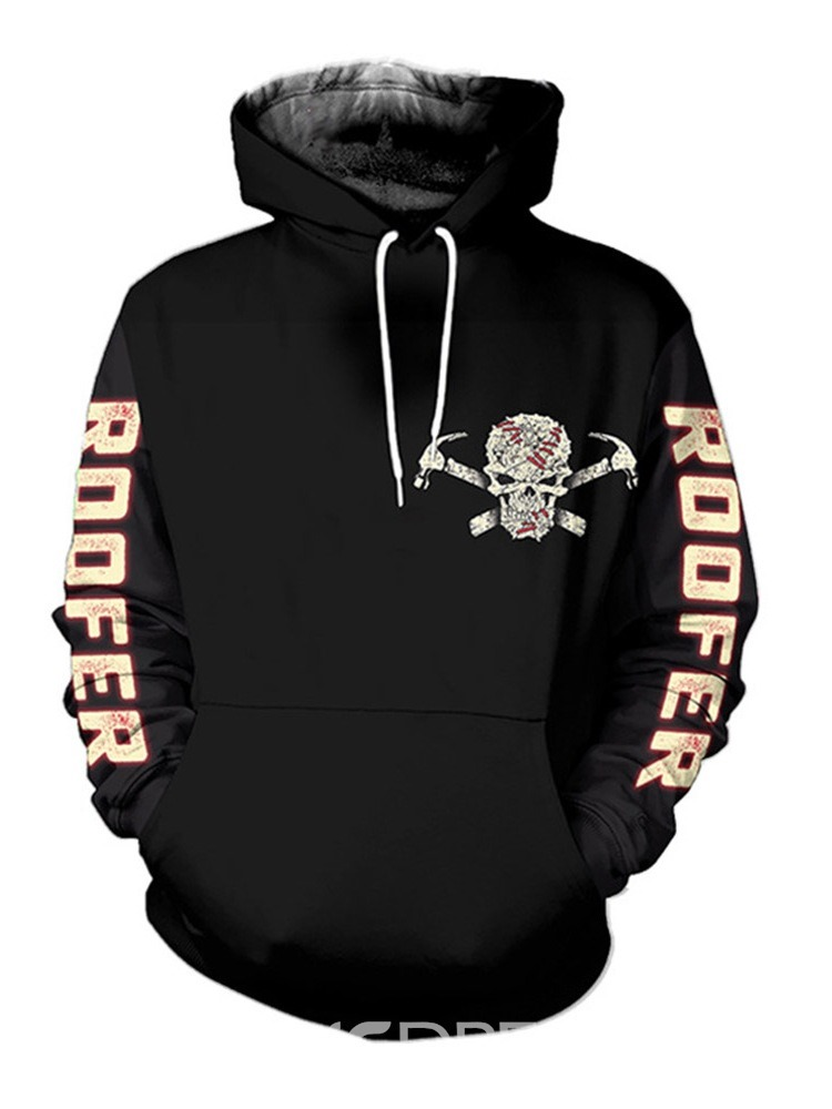 Ericdress Print Letter Pullover Hooded Winter Hoodies
