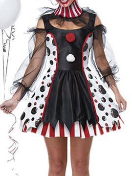 Ericdress Color Block Fashion Mesh Summer Scary Costumes
