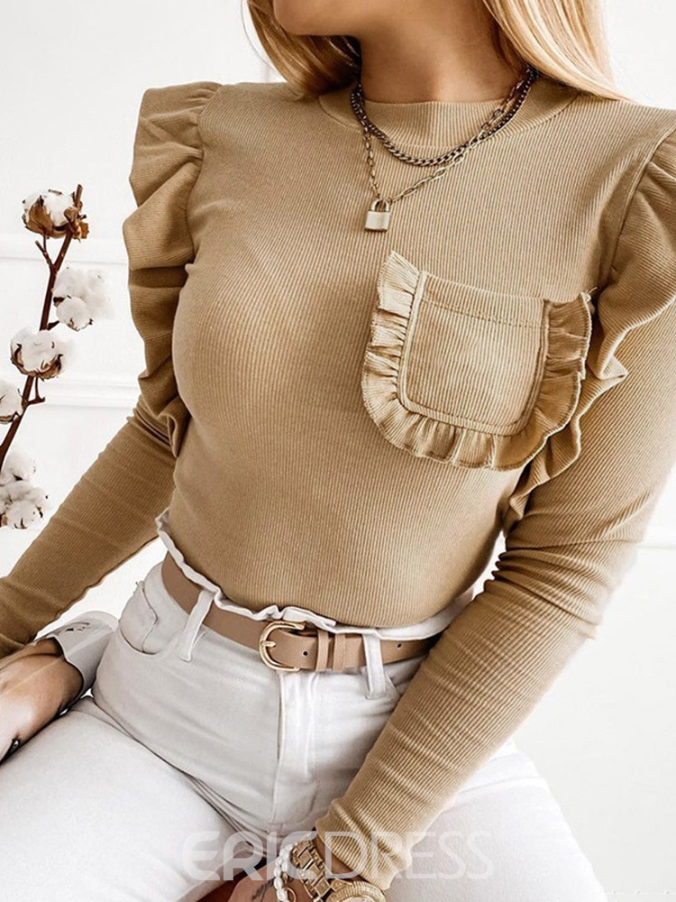 Ericdress Stringy Selvedge Spring Long Sleeve Sweater