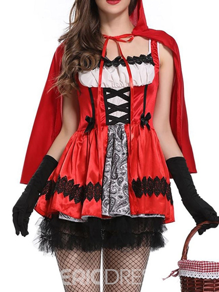 Ericdress Color Block Lace Western Classic Halloween Fall Costumes