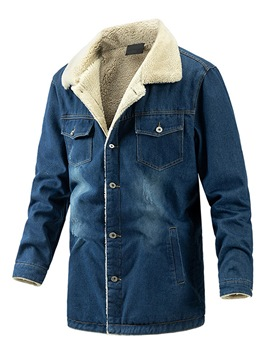 Ericdress Mid-Length Pocket Lapel Single-Breasted Casual Down Jacket