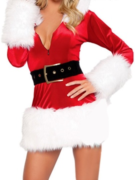 Ericdress Long Sleeve Feather Color Block Holiday Fall Costumes