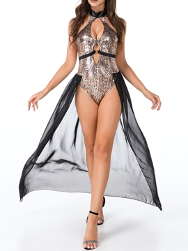 Ericdress Color Block Hollow Western Fall Sexy Costumes