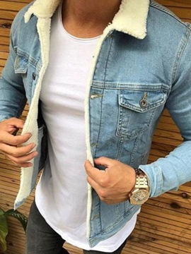 Ericdress Standard Lapel Plain Casual Single-Breasted Down Jacket