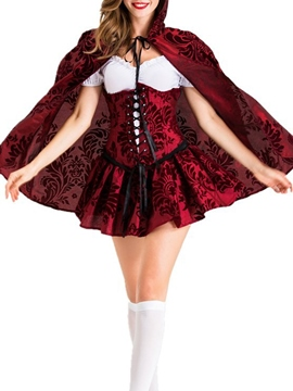 Ericdress Short Sleeve Color Block Lace-Up Classic Halloween Fall Costumes