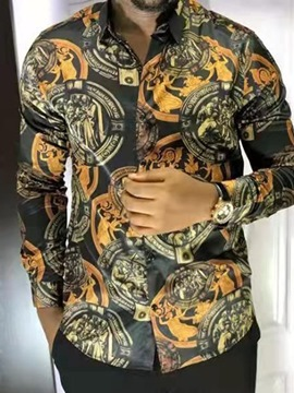 Ericdress Print Floral Lapel Fall Single-Breasted Shirt