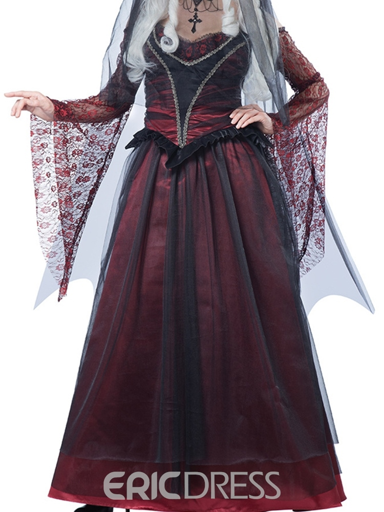 Ericdress Western Color Block Mesh Fall Scary Costumes