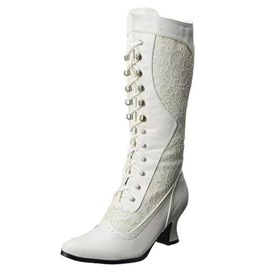 Ericdress Pointed Toe Lace-Up Front Patchwork Professional Boots