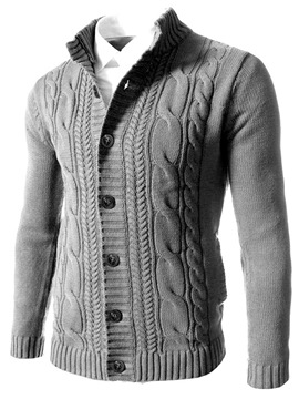 ericdress pull col montant unie standard d'hiver slim
