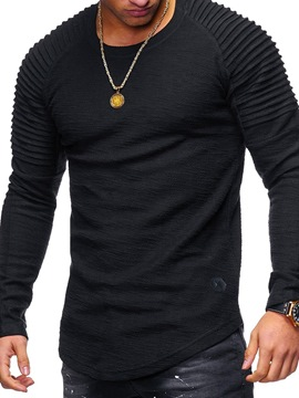 Ericdress Round Neck Casual Plain Pullover Casual Long Sleeve T-shirt