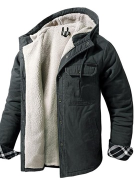 Ericdress Plain Hooded Standard Casual Single-Breasted Down Jacket