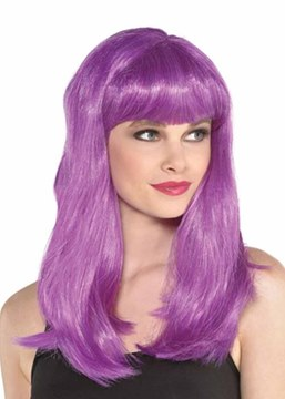 Ericdress Halloween Costumes Cosplay Women's Natural Straight Bob Bangs Synthetic Hair Capless Wigs 20Inch
