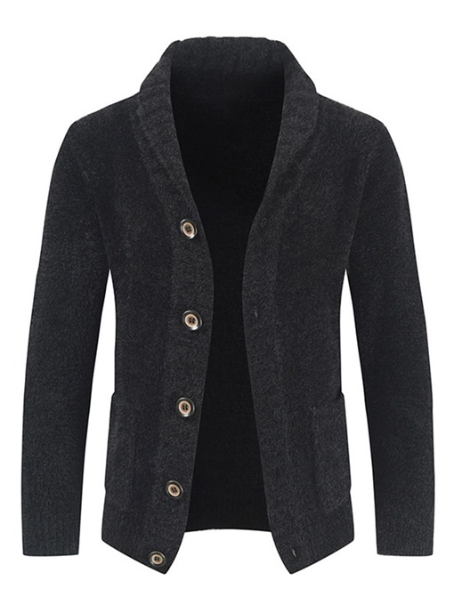 Ericdress Standard Lapel Pocket Casual Single-Breasted Sweater