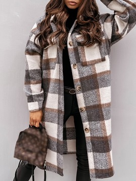 Ericdress Single-Breasted Loose Button Long Winter Overcoat