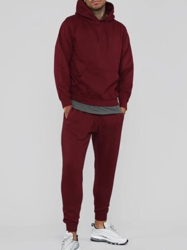 Ericdress Sports Plain Hoodie Fall Outfit