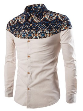 Ericdress Lapel Floral Casual Spring Single-Breasted Shirt